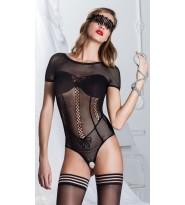 Sakis Body in rete lavorata aperto- Trasparenze Sexy Lingerie