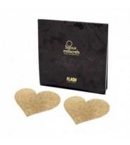 Flash glitter pasties - Copricapezzoli glitterati a Cuore Les Bijoux Indiscrets